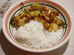 Govinda Dasu Aloo Fry and Rice